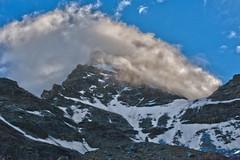 A mountain and a cloud. Le Grand Combin de Volsorey depuis la Cabane de Volsorey.No, 3565. (Izakigur) Tags: morning liberty switzerland coldplay feel lepetitprince cas thelittleprince dieschweiz grandcombin fixyou lasuisse valsorey d700 nikond700 nikkor2470f28 romadie laventuresuisse legrandcombin