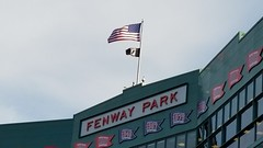 Fenway Flags (bpephin) Tags: summer usa america baseball flag redsox americanflag american fenway 34 ortiz redwhiteblue usflag mlb vets starsstripes