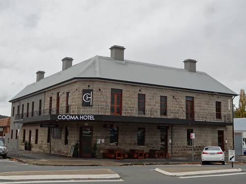 Cooma. The old granite Cooma Hotel built by denisbin, on Flickr
