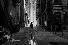 Girl in the Alley (Ben Roffelsen Photography) Tags: white toronto black brick classic fuji x100t