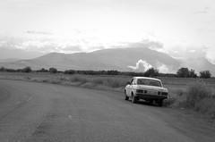 Khor Virap - Armenia (Agnieszka Eile) Tags: caucasus southcaucasus armenia khorvirap road car blackandwhite bw monochrome