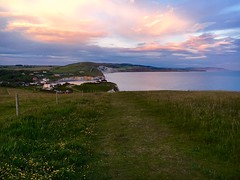 Freshwater Bay (Zoe.IOW) Tags: sunset sea sky clouds landscape countryside cliffs isleofwight freshwater freshwaterbay