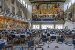 The Banquet Hall (dietmar-schwanitz) Tags: art oslo norway kunst skandinavien norwegen townhall scandinavia rathaus lightroom gemlde rdhus festhalle rdhushallen dietmarschwanitz nikond750 nikonafsnikkor24120mmf40ged hendriksrensen arbeitadministrsjonfest