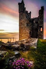 Lilburn Tower, Dunstanburgh Castle (Richard_Turnbull) Tags: lilburntower dunstanburghcastle nikon d600 northumberland northeast northumbria ruin clover castle tower sunset