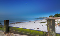 Moonbeach (nicklucas2) Tags: beach groyne moon sand sea seascape