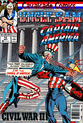 Cavalcade Comics #12 - Uncle Sam vs Captain America (Paxton Holley) Tags: holiday america vintage comics book comic sam uncle july books captain throwdowns