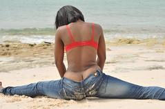 DSC_3233 (vaughnscriven) Tags: red sea beach water girl youth fun rocks sam bra young fresh teen bahamas pure 2010 redbra vaughnscriven vaughnscrivenphotography