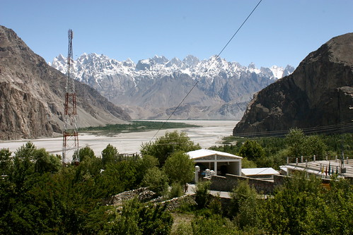 shyok panorama from Karakoram Lodge Khaplu