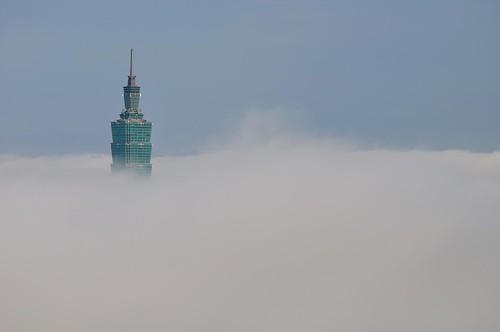 飄於雲端上的Taipei 101