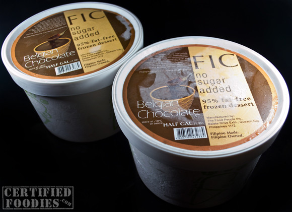 Two tubs of FIC Belgian Chocolate frozen desserts - CertifiedFoodies.com