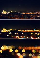 Abstracciones (Yavanna Warman {off}) Tags: sky black colors night 50mm lights luces noche dof cathedral bokeh negro catedral colores cielo salamanca abstracción