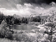 Glacier National Pk., Montana (CHARLIE CARTER PHOTOGRAPHY) Tags: blackandwhite film fineart tetons pentax6x7 silverprint spectacularlandscape originalprint specland awesomesky westernlandscape wyominglandscape natioanlprks glaciernationalprkmontana
