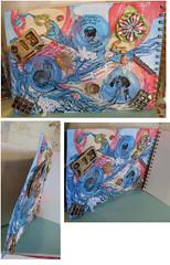 Carnet de Voyage Copics Bleedthrumanade Back (molossus, who says Life Imitates Doodles) Tags: copics zentangle creativepaperclay vivalasvegasstamps bleedthrumanade