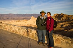John & Jill at Zabriskie Point (Jill Clardy) Tags: park mountains point death sandstone jill manly national valley vista zabriskie beacon jt 9256