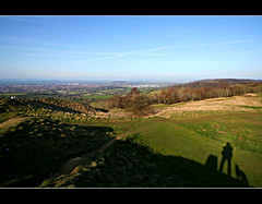 We are not alone (Nick Stewart2) Tags: shadow dog self canon gloucestershire gloucester cheltenham malvernhills trigpoint eos400d nickstewart painswickbeacon churchdownhill popeswood nickstewart2