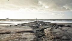 The path (simondownunder) Tags: travel winter sea dusty rain stone dark grey meer grau melancholy fhre melancholie