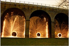 Night becomes Day (103/365) (Jchales.co.uk) Tags: park wool night wire long exposure day central railway spinning whisky daytime lead essex merge chelmsford viaducts canonefs1855mmf3556isii