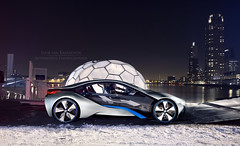 The Future has Arrived.. (Luuk van Kaathoven) Tags: car skyline night truck rotterdam future bmw concept van mobility i8 luuk luukvankaathovennl kaathoven