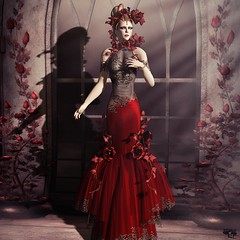 Red Love (Wicca Merlin) Tags: new flowers roses woman news art love fashion pose hair hearts blog 3d clothing model photographer modeling avatar formal style vine jewelry blogger valentine sl secondlife valentines gown sonia eveninggown couture modelpose formalattire highfashion sona newrelease eveningdress virtualworld newreleases modelposes femaleclothing slfashion 3dpeople panjen slclothing slstyle modelingpose valentinespecial modelingposes silkenmoon fashionposes wiccamerlin femalewear metavirtual morganebatista fashioninpixels poseshop eveningcostume valentinedayvaslentinesday