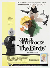 The Birds (Xenomurphy) Tags: birds movie poster lego taylor horror rod hitchcock thriller alfredhitchcock suspense tippi hedren