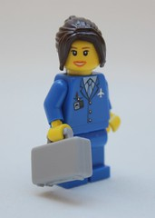 Come Fly with Me! (Andrew Penny) Tags: uk england canon cornwall lego air hostess airhostess comeflywithme 450d canon450d
