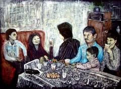 Tras el bautizo (Carlos Luis Sanchez) Tags: family table arte venezuela kunst comida sacred andes mesa bautizo tachira reveron figurativo expresionismo figuracion