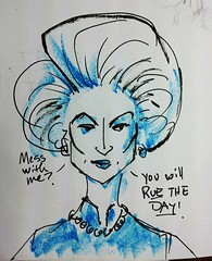 The Iron Streep (Leviathan League) Tags: illustration sketch margaretthatcher merylstreep theironlady flickrandroidapp:filter=none
