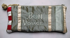 Tara Badcock PARIS+TASMANIA- Bon Voyage document purse, 2012 (Tara Badcock) Tags: voyage bon leather embroidery silk textiles bonvoyage textileart australianartist tasmanianartist monkeyfist tarabadcock embroideredtextiles embroideredpurse handembrodiery embroideredtext