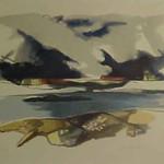 "<b>Seascape</b><br/> Erling Enger ""Seascape"" Watercolor, n.d. LFAC #650<a href=""http://farm8.static.flickr.com/7179/6900002484_323640cba6_o.jpg"" title=""High res"">∝</a>"