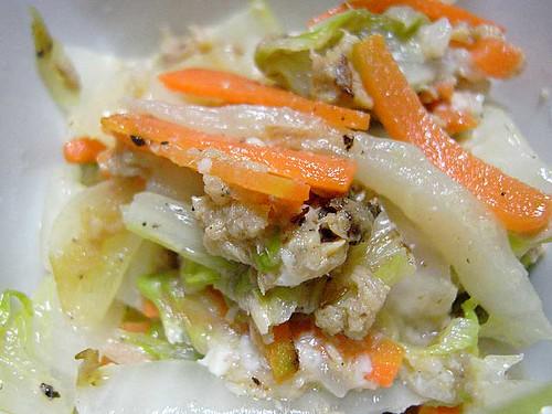 塩麹入りツナ白菜の和え物