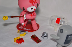 Not a Good Time... Again! (WindUpDucks) Tags: bear pink 6 soldier gloomy lego roman clear domo figure series mori qee chack minifigures buildadomo