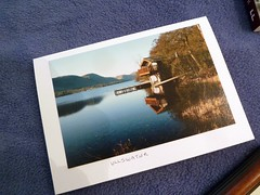 Mary's Card (arrowlakelass) Tags: needlework mary lakedistrict picture books wainwright card surprise parcel carlisle ullswater p1180783 apenninejourney memoirsofafellwanderer