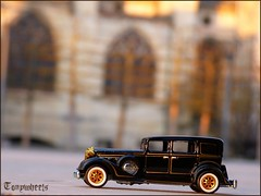 Packard II (tonywheels) Tags: hot classic car vintage miniature bourges wheels voiture explore hotwheels 164 oldies limousine diorama cathedrale packard diecast classique