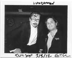 In the Company of a Deranged Millionaire (T-Terror) Tags: me self polaroid tucson rialtotheatre fot johnhodgman thatisall fujifp3000b friendsoftom land350