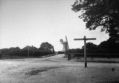 Galleywood Windmill and Eagle Crossroads circa 1900 (Stuart Axe) Tags: old city uk greatbritain england history windmill pub village eagle unitedkingdom victorian historic gb signpost oldphotograph crossroads essex racecourse edwardian thenandnow chelmsford publichouse theeagle fingerpost galleywood countytown countyofessex galleywoodroad watchouseroad galleywoodracecourse cityofchelmsford