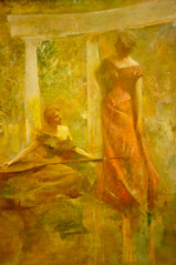 Thomas Dewing - Music, 1895 at American Art Museum Washington DC (mbell1975) Tags: music art museum painting dc washington gallery museu thomas fine arts muse musee m american realist museo muzeum realism 1895 mze dewing museumuseum
