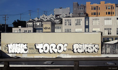 (Into Space!) Tags: sf sanfrancisco california city urban rooftop cali graffiti bay bayarea mta graff toro bombing sufer dtc icp kyt pemex nomas puzle sedek lolc ohjae intospace