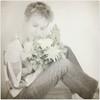 037/365  année 2 (♥beryl) Tags: flowers selfportrait texture me square spring monochromatic jeans sp bouquet 365 squarecrop selectivecolor selfie radlab nikond90 alwaysexc silverfx kimklassen