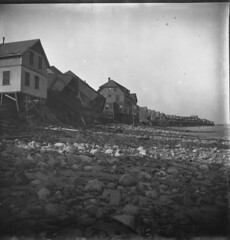Brant Rock (most likely after Portland Gale) (Drew Archival Library) Tags: stormdamage marshfield duxbury glassplatenegative brantrock facey wrightbuilding portlandgale drewarchives