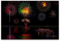 Fireworks at Lake George NY (Ronaldo F Cabuhat) Tags: longexposure nightphotography travel cruise party summer vacation usa ny newyork reflection art water colors night canon landscape photography interestingness lowlight fireworks award adirondacks lakegeorge fave celebration explore journey 4thofjuly independenceday frontpage summernight lakegeorgenewyork nightcruise cabuhat fireworksatlakegeorgeny