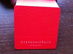 Stephanie Salo Photography Business Cards (dolcepress) Tags: ca ny photography blind duplex stephanie sacramento letterpress cougar bohemia businesscard offset salo dolcepress brandenvy 260lb