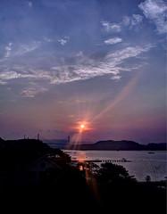 Rays (HunggNguyen) Tags: sky sunlight reflection sunrise island bay boat long ship cloudy coto vietnam waters rays ha wreck hdr quang ninh hunggnguyen