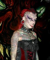 "María José Cristerna ""La Mujer Vampiro"" (Shadowargel) Tags: expo tatto 2012"