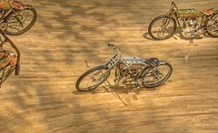 Harley Davidson Museum - Early Motorcycle Racing Presentation (2sheldn) Tags: harley davidson museum motorcycle racing presentation hdr tonemapped sheldn canon t2i 550d photomatix copyrightdanielsheldon allrightsreserveddanielsheldon sheldnart allrightsreserved wi wisconsin logo copyright sheldon danieljsheldon rebel eos 550