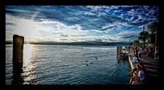 Bardolino Gardasee (Markus Lenhart) Tags: italien sunset summer italy cloud photoshop wasser sonnenuntergang pentax sommer urlaub wolken ufer hdr markus k5 topaz adjust gardasee bardolino lenhart photomatrix