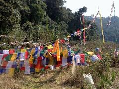 Holy Lake with Prayer Flags (Ginas Pics) Tags: smart religious buddhist prayer religion holy sacred prayerflags sikkim ginaspics reginasiebrecht copyright2015reginasiebrecht