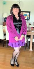 Purple Skirt (Trixy Deans) Tags: cute sexy tv cd skirt crossdressing tgirl short tranny transvestite trans satin transgendered crossdresser crossdress shortskirts skirts tg sexylegs transsexual shemale shortskirt trixy tgirls shemales transvesite sexyheels sexytransvestite