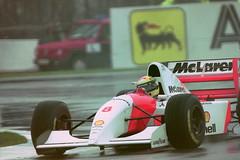 Ayrton Senna  - Mclaren MP4-8 exits the Esses during practice for the 1993 European GP at Donington (Karting Nord) Tags: european 1993 gp donington