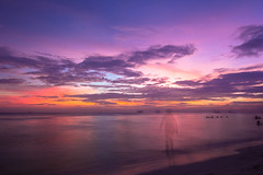 | Sunset at Boracay (Owen Wong (Thank you)) Tags: ocean sunset shadow sea orange cloud sun beach landscape island asia purple sundown philippines boracay