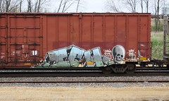 Ich (quiet-silence) Tags: railroad art train graffiti yme railcar boxcar graff ich freight ichabod fr8 circlet